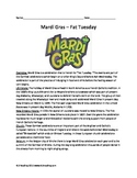 Mardi Gras - History Review Article Questions Vocabulary Activities Word Search