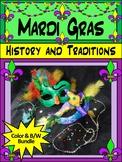 Mardi Gras Activity Packet Bundle - Color&BW