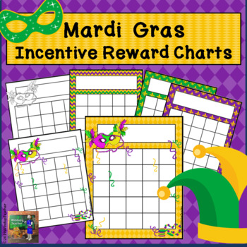 Mardi Gras Incentive Reward Charts