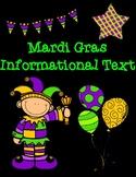 Mardi Gras Informational Text