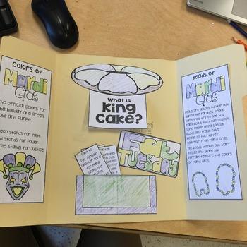 Mardi Gras Interactive Lap Book: Non-Fiction Reading Activity for Grades 3-5