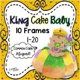 Mardi Gras King Cake Baby 10 Frames 1-20