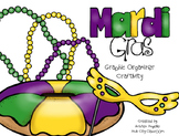 Mardi Gras King Cake Graphic Organizer Craftivity