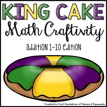 Mardi Gras King Cake Math Craftivity--Addition 1-10