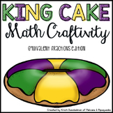 Mardi Gras King Cake Math Craftivity--Equivalent Fractions