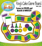 Mardi Gras King's Cake Board Game Clipart {Zip-A-Dee-Doo-Dah Designs}