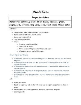 Mardi Gras Lesson Plans