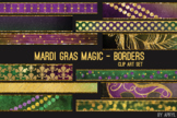 Mardi Gras Magic Art Border Clip Art 32 JPG Clip Art Strip