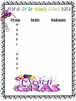 Mardi Gras Mania Math Activity