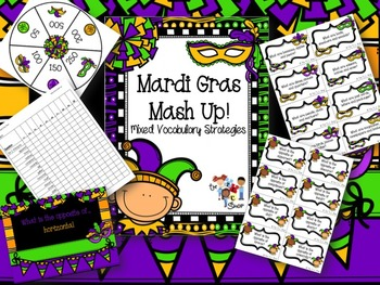 Mardi Gras Mash-up! - Mixed Vocabulary Strategies