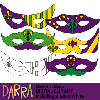 mardi gras mask clipart by darrakadisha teachers pay teachers rh teacherspayteachers com Mardi Gras Mask Silhouette mardi gras mask clipart images