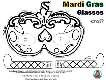 Mardi Gras Mask Glasses Craft
