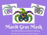Mardi Gras Mask - Pattern Doodle Art for Centers or Early