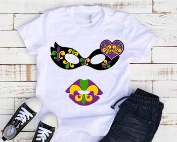 Mardi Gras Mask and Lips SVG Louisiana Fat Tuesday Carnival masquerade 1252s