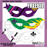 Mardi Gras Masks Free Clip Art