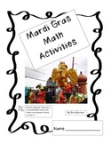 Mardi Gras Math Activities for 3 Days