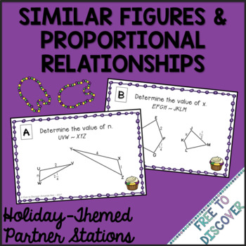 Mardi Gras Math Activity Similar Figures Proportional Relationships