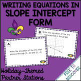 Mardi Gras Math Activity - Writing Equations in Slope Inte