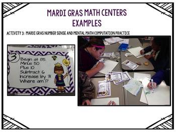 Mardi Gras Math Centers