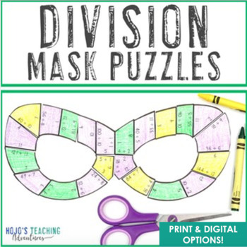 Superhero Mask Division Puzzles: Great for Superhero Classroom Theme Decor