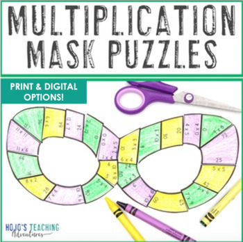 Superhero Mask Multiplication Puzzles: Great for Superhero Classroom Theme Decor