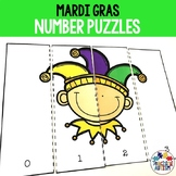 Mardi Gras Math Number Puzzles Counting to 10