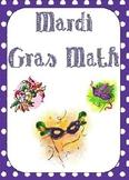 Mardi Gras Math - Place Value Matching Game
