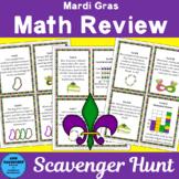 Mardi Gras Math Review Scavenger Hunt