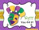 Mardi Gras Melodies - A stick to staff notation game for practicing sol mi la