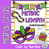 Mardi Gras Metric Length Conversions Color by Number