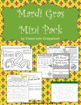 Mardi Gras Mini Pack (Informational Booklet, Craft, Puzzles)