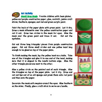 Mardi Gras- Mini Thematic Unit for Toddlers/Pre-K