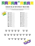 Mardi Gras Multiplication Mystery