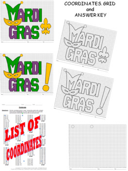 Mardi Gras Mystery Pictures with Worksheets