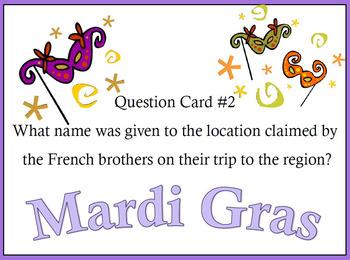 Mardi Gras New Orleans Scavenger Hunt Task Cards or Walking Tour Activity