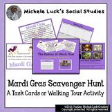Mardi Gras New Orleans Scavenger Hunt Task Cards or Walkin