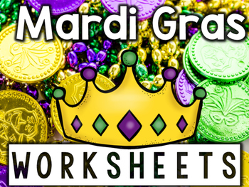 Mardi Gras Worksheets & Printables