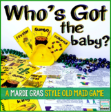 Mardi Gras Old Maid Game   Who's got the baby?