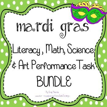 Mardi Gras - Original Book, Literacy, Math, Science, Performance Task BUNDLE