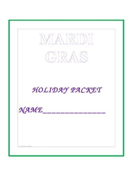 Mardi Gras Packet Cover Update