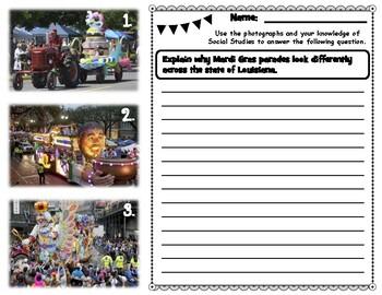 Mardi Gras Parades Constructed Response Question
