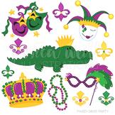 Mardi Gras Party Cute Digital Clipart, Mardi Gras Clip Art