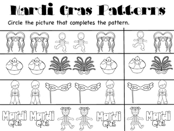Mardi Gras Pattern Pages