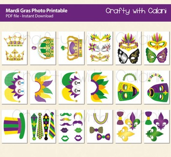 Mardi Gras Photo Props, Masquerade Party Photo Props, Mardi Gras Decoration