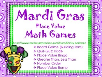 Mardi Gras Place Value Games