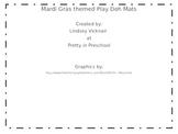 Mardi Gras Play Doh Mats