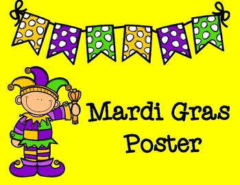 Mardi Gras Pair and Share Poster