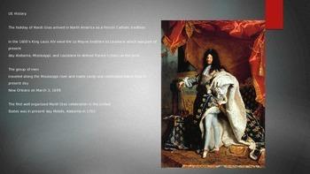 Mardi Gras - Power Point - Information History Facts Around the World