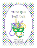 Mardi Gras PreK Printable Learning Pack