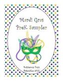 Mardi Gras PreK Sampler Printable Pack